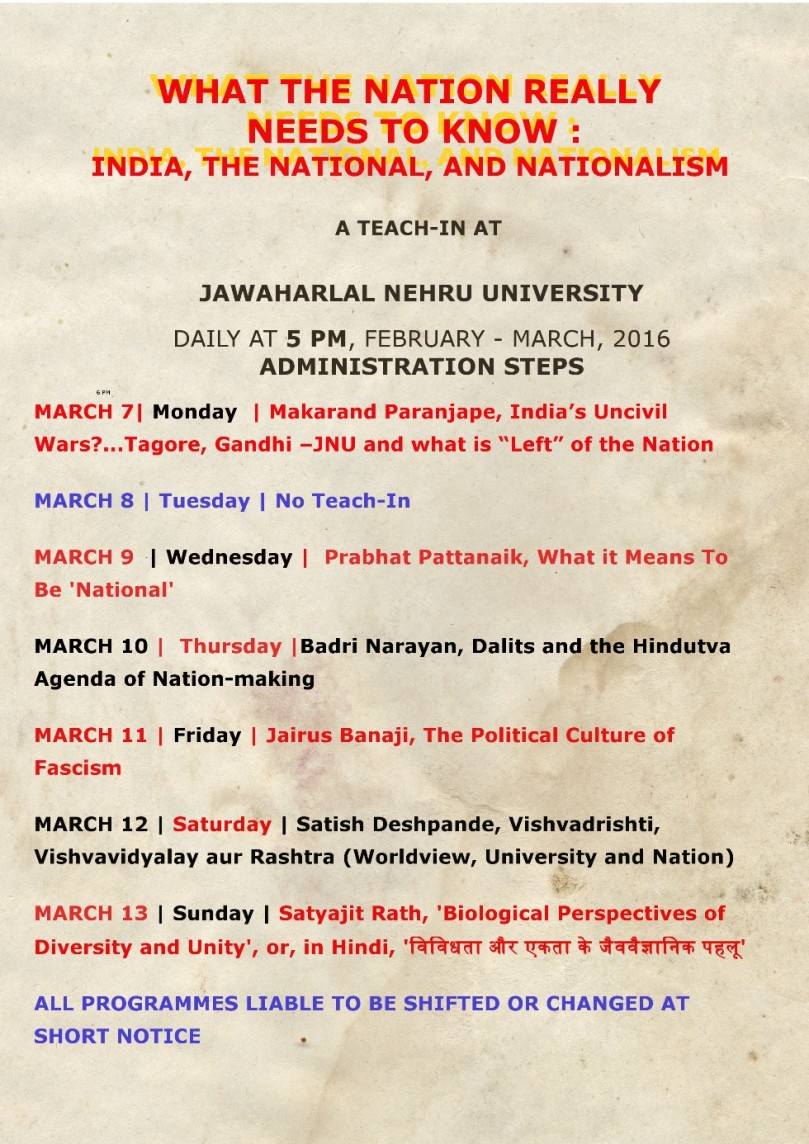 teach in revised march